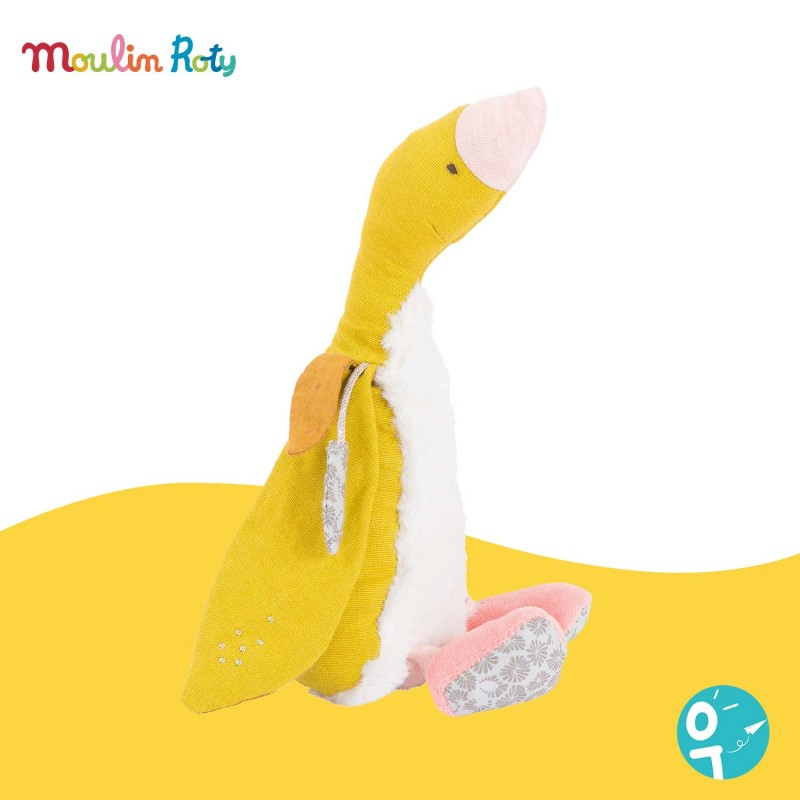 Peluche petite oie jaune Bambou Le voyage d'Olga Moulin Roty  714023