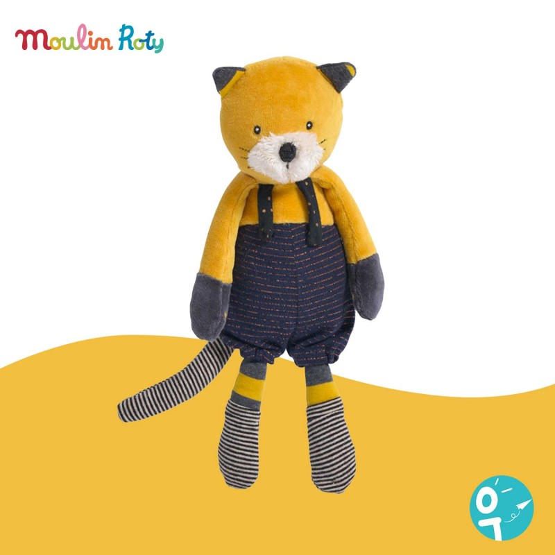 Petite peluche chat Lulu Les Moustaches Moulin Roty 666006