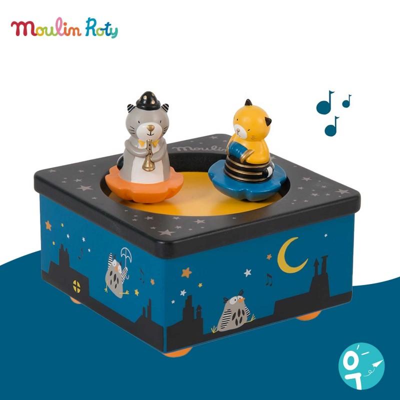 Boite à musique Les moustaches Moulin Roty