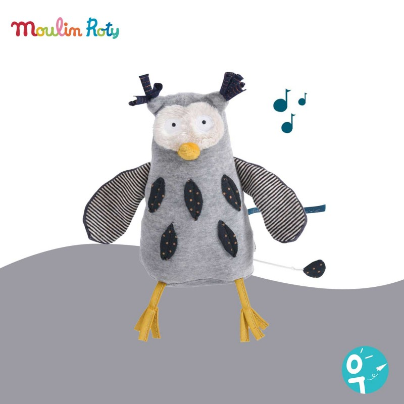 Peluche musicale Hibou Les Moustaches Moulin Roty