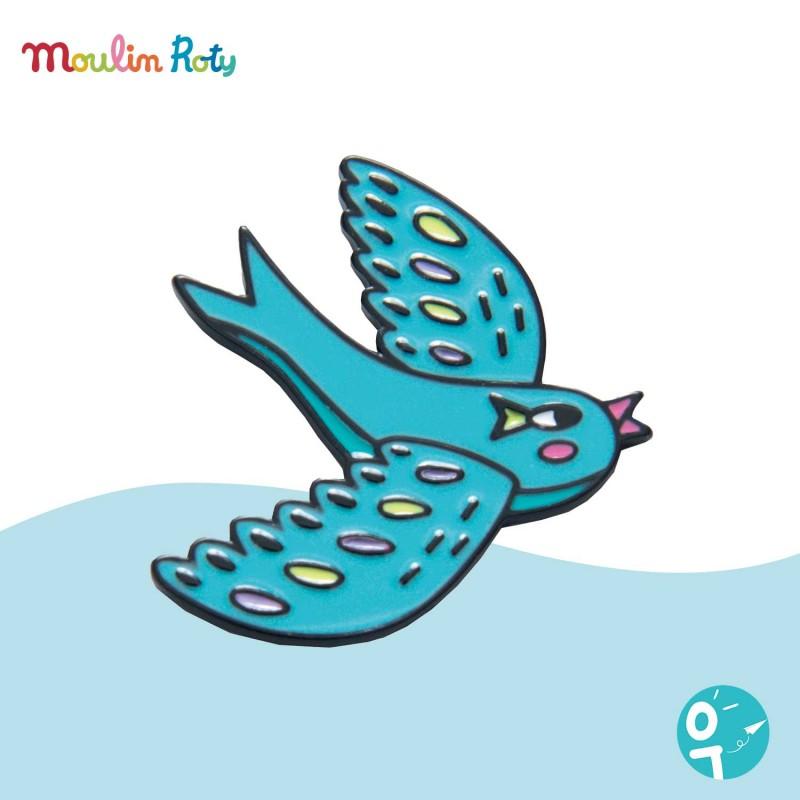 Pin's émaillé oiseau Les Broc' & Rolls Moulin Roty 642762