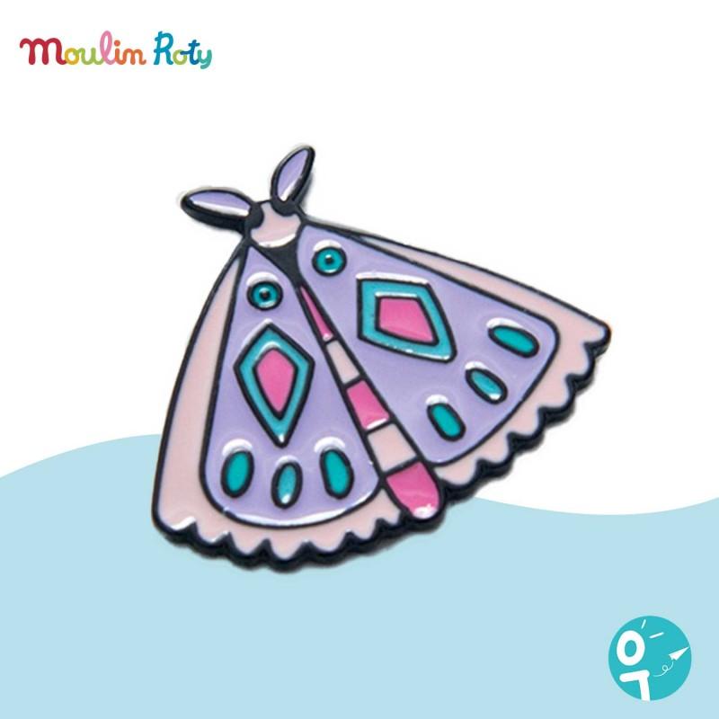 Pin's émaillé papillon Les Broc' & Rolls Moulin Roty