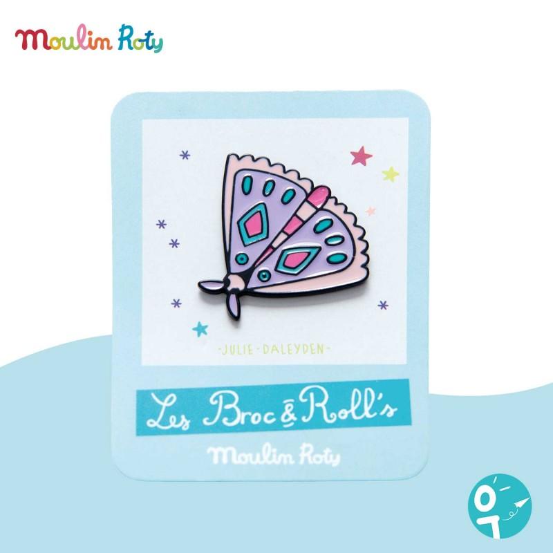 Pin's émaillé papillon Les Broc' & Rolls Moulin Roty 642761