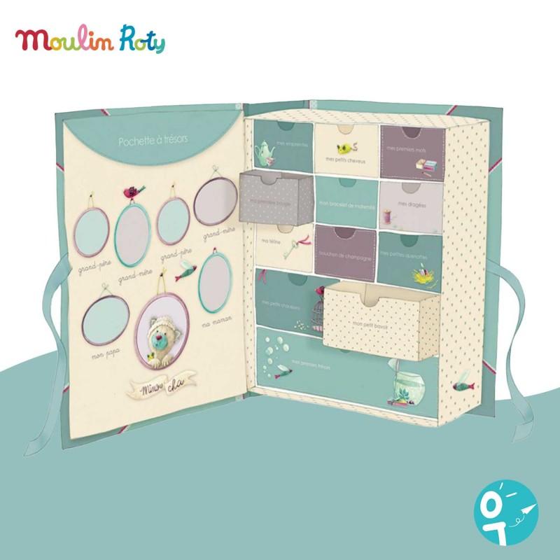 Coffret naissance Moulin Roty pour rassembler les souvenirs de bébé