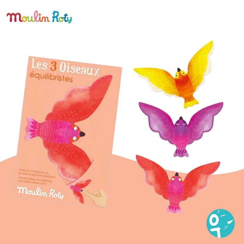 3 oiseaux équilibristes Les Petites Merveilles Moulin Roty