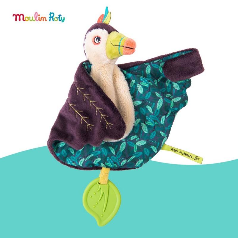 Doudou de dentition Pakou le toucan Dans la Jungle Moulin Roty 668018