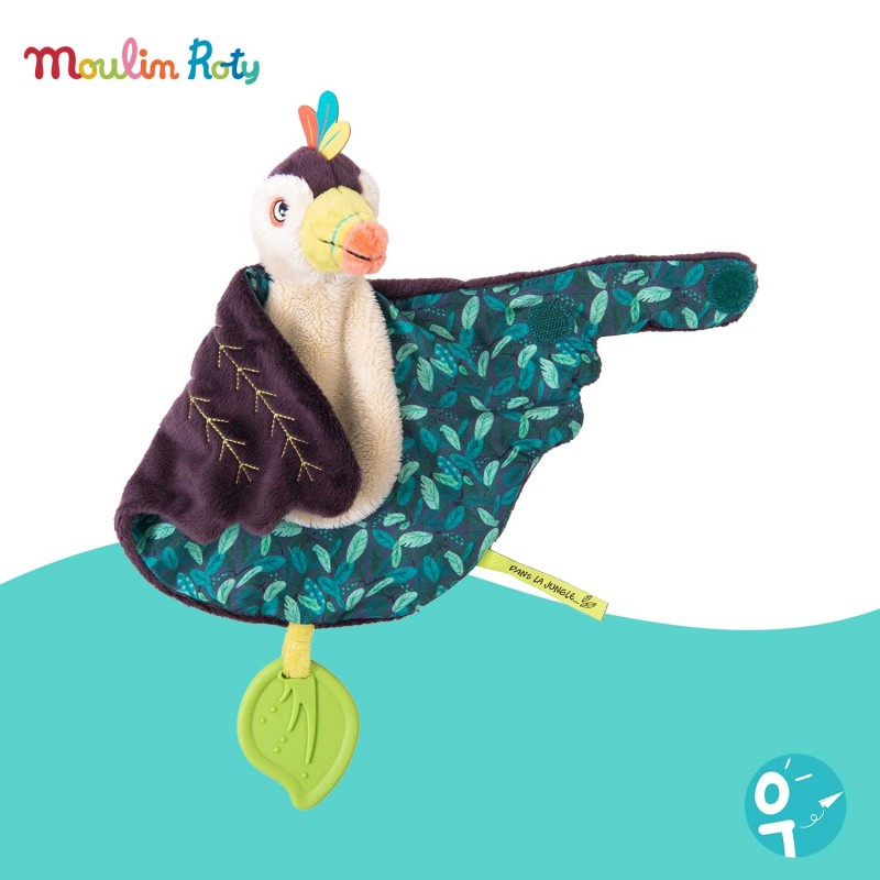 Doudou Pakou le toucan Dans la Jungle Moulin Roty