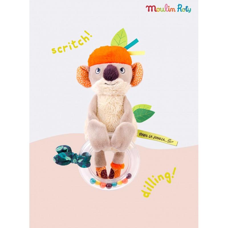 Hochet anneau à billes koala Koco Dans la Jungle Moulin Roty 668007