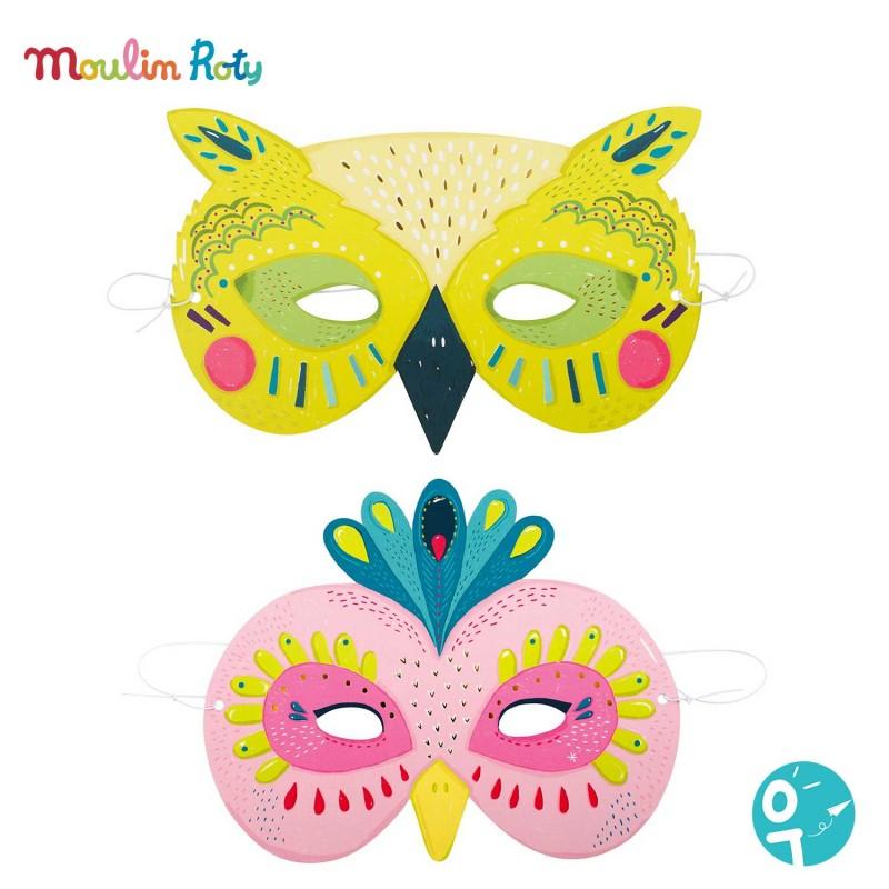 Les masques animaux pour les enfants de Moulin Roty