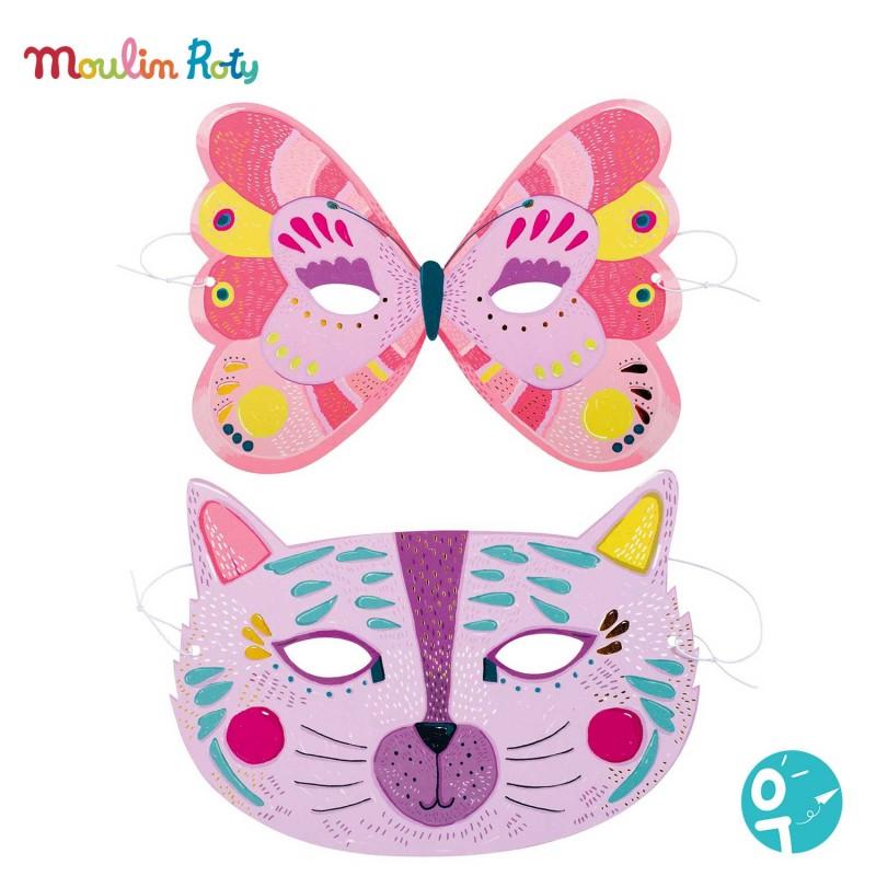 Masque papillon et chat