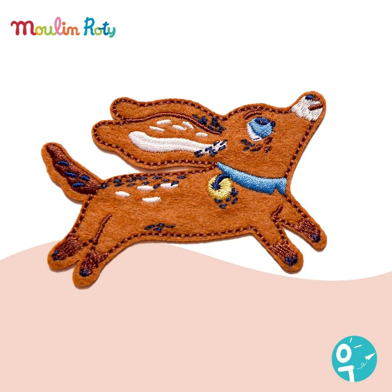 Patch brodé thermocollant en feutrine chien Moulin Roty 642549