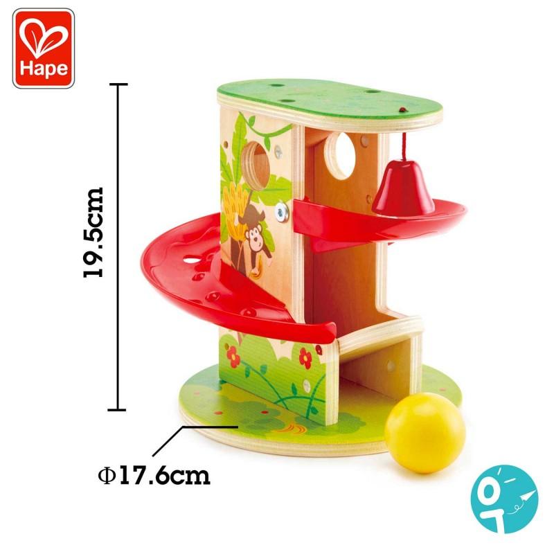 Dimensions du jouet Toboggan de la jungle Hape