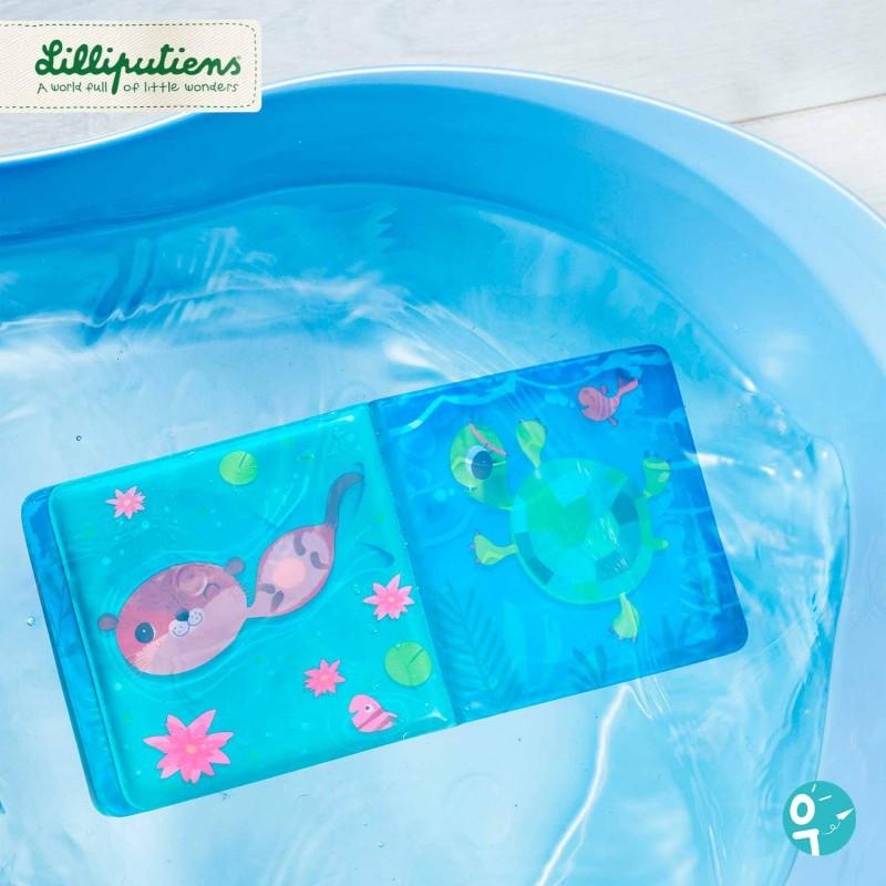 Mise en scène du livre de bain