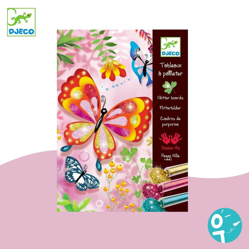 Tableau à pailleter papillons Djeco DJ09503