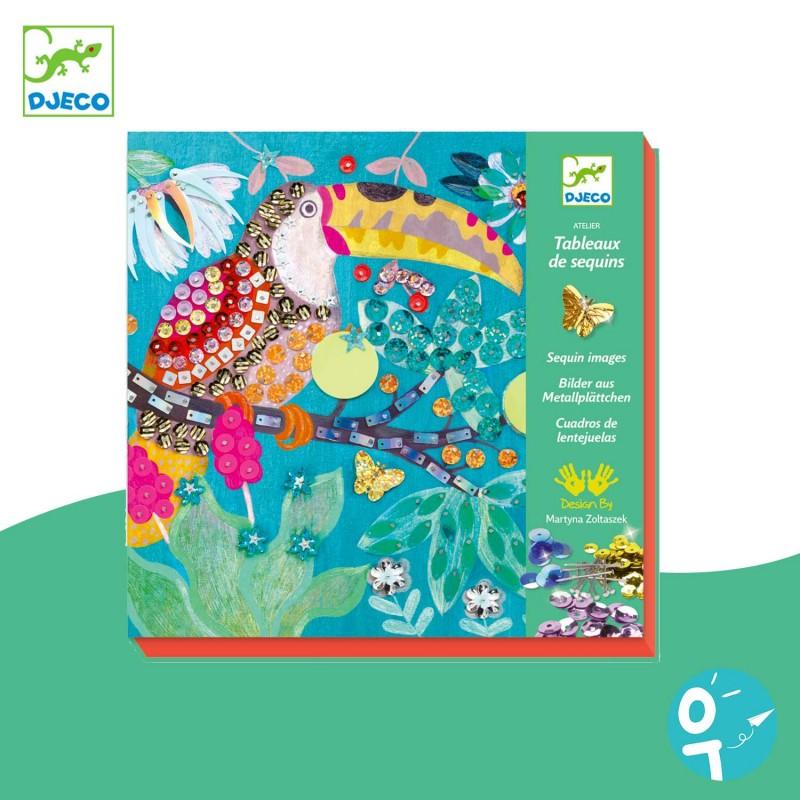 Tableaux de sequins Flamboyants Djeco DJ09521
