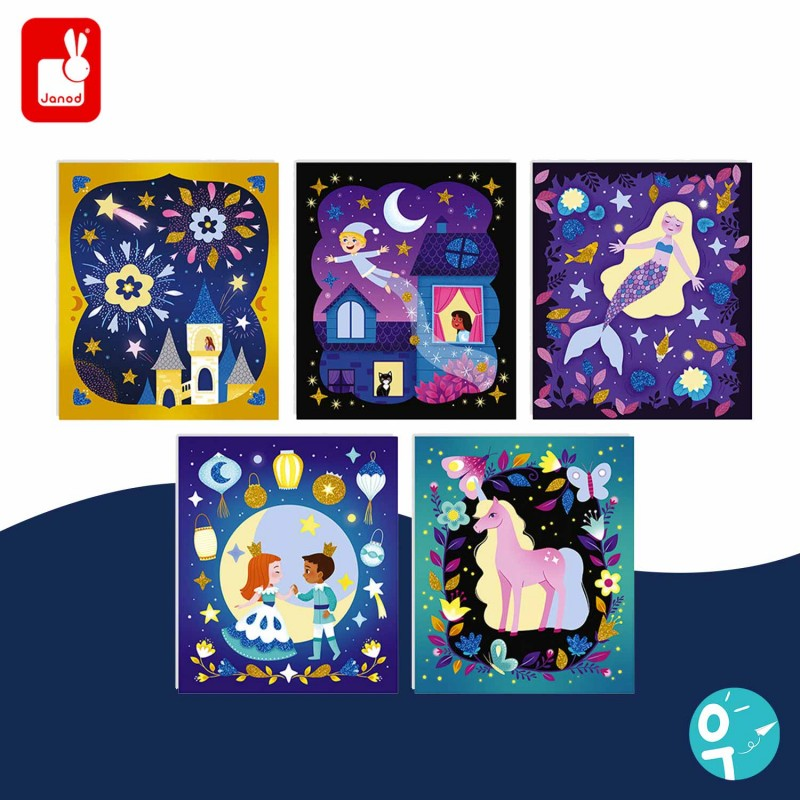 Cartes à sabler qui brillent la nuit pour les enfants dès 5 ans