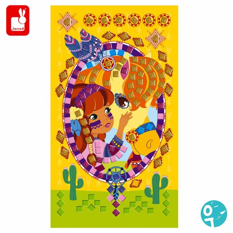 Cartes à mosaïque poney pour les enfants
