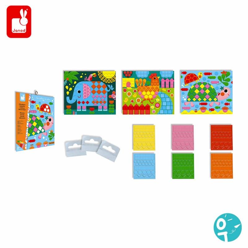 Contenu du kit créatif mosaïques pour les jeunes enfants (dès 3 ans)