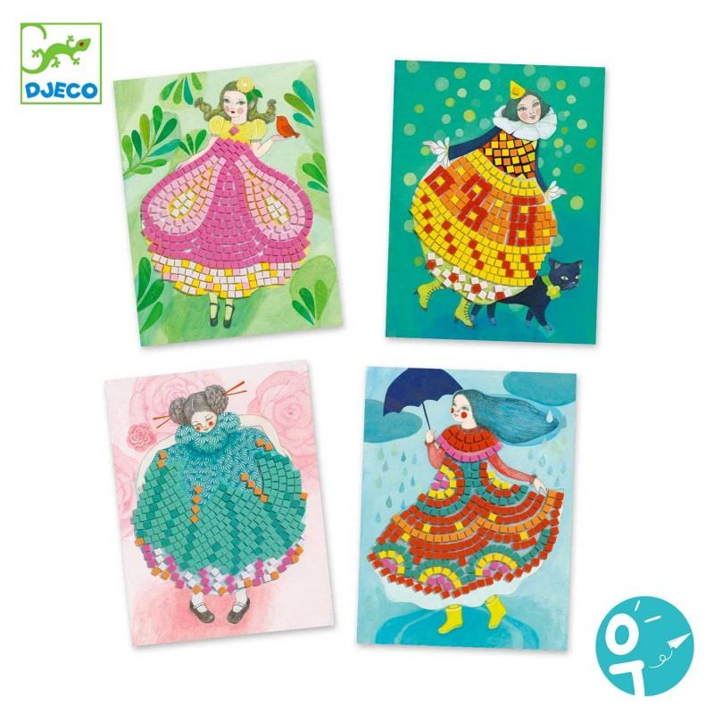 4 cartes de mosaïques Djeco pour les enfants de 6  à 10 ans
