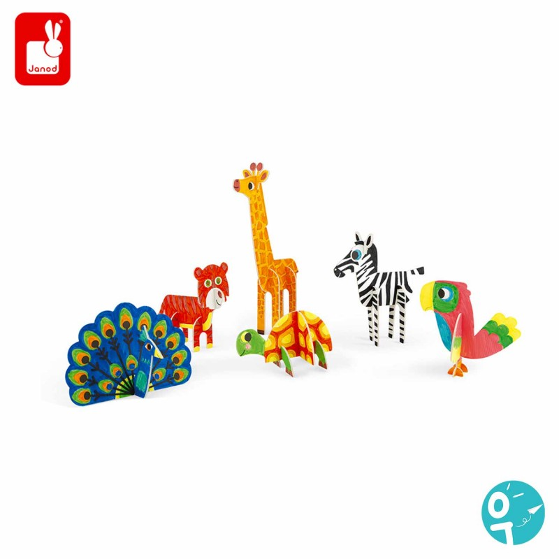6 animaux pour une activité manuelle et créative.
