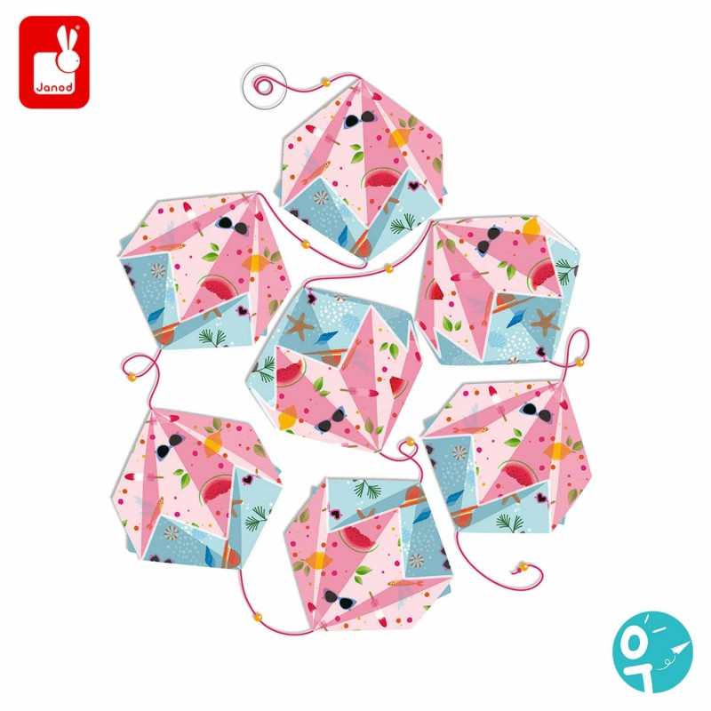 Les guirlandes roses en origami pour les enfants (dès 7 ans)