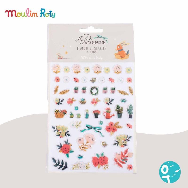 57 stickers fleurs Les Parisiennes Moulin Roty 642559