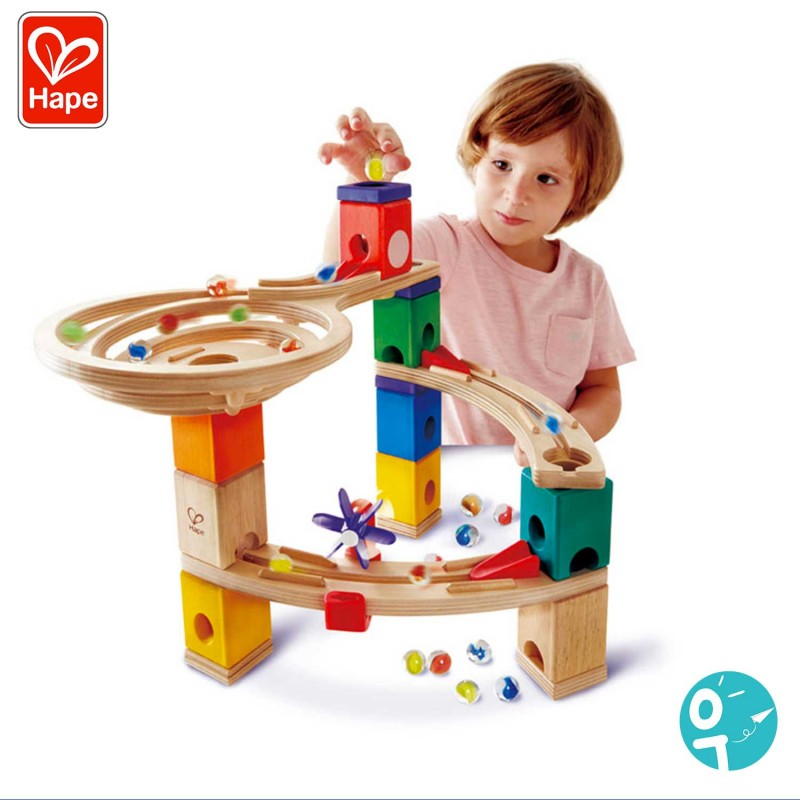 Circuit de billes en bois pour les enfants