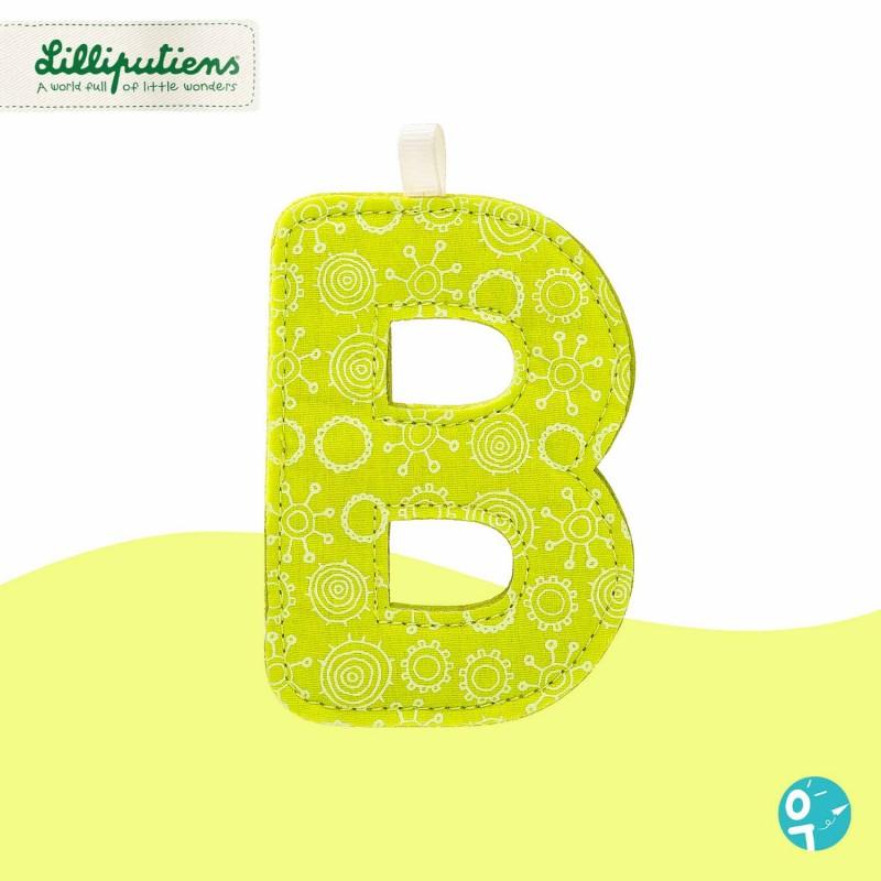 Lettre en tissu B vert Lilliputiens