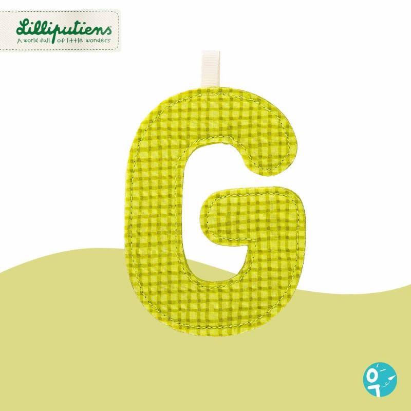 Lettre en tissu G Lilliputiens