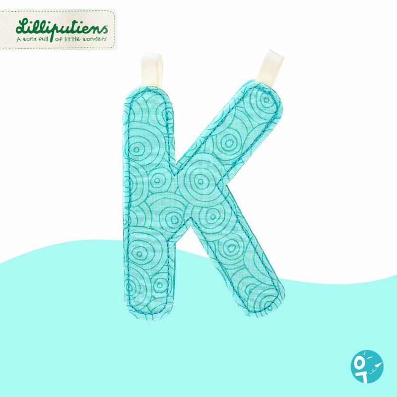 Lettre en tissu K Lilliputiens
