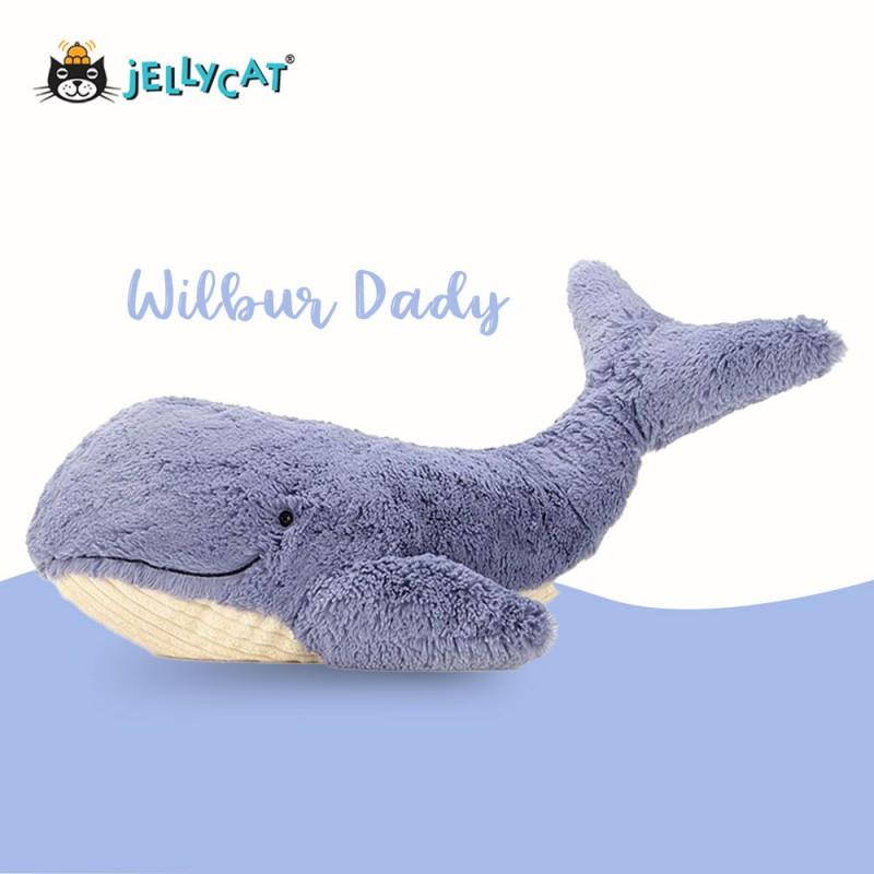 Grande peluche baleine Jellycat - vue de côté suite
