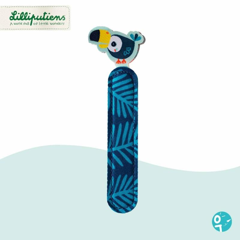 Lettre en tissu I réversible Lilliputiens Pablo 86769 - Côté bleu