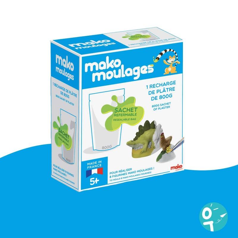 Recharge plâtre 800g Mako Moulages