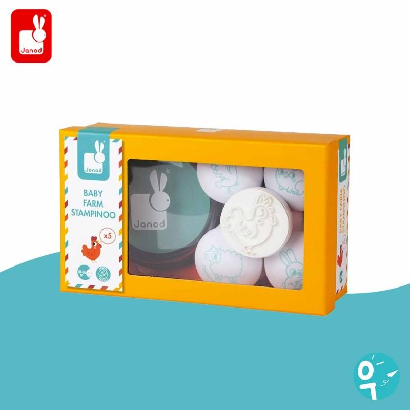 5 tampons Baby Ferme Stampinoo Janod J07795