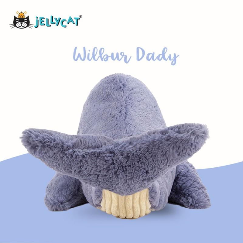 Grande peluche baleine Jellycat - vue de dos