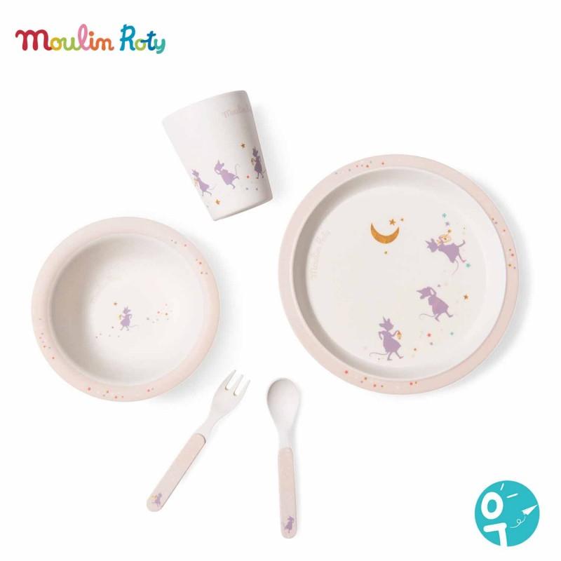 Set vaisselle en bambou pour les bébés