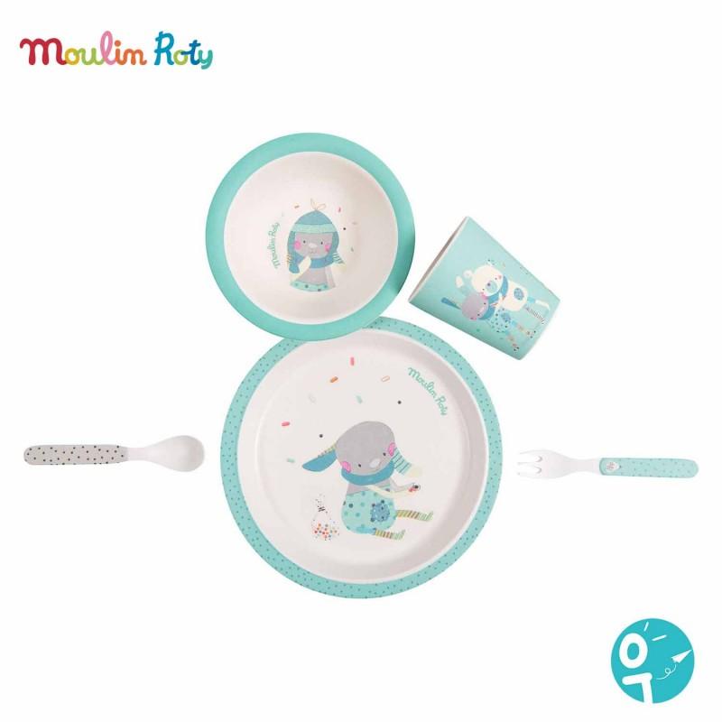 Set vaisselle en bambou pour les enfants (bébé)