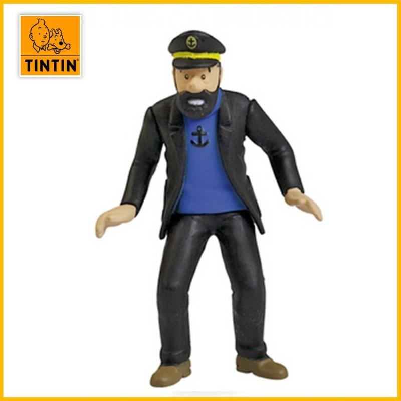 Figurine Haddock au rallye - Figurine Tintin PVC (grand modèle) 42430