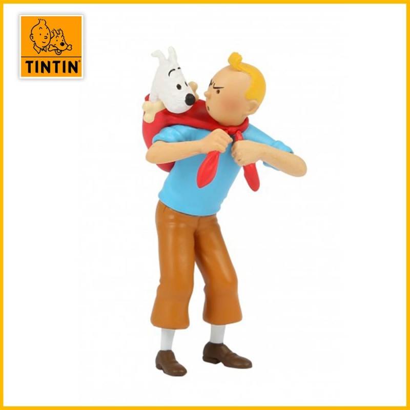 Figurine Tintin ramène Milou - Figurine PVC (grand modèle) 42508