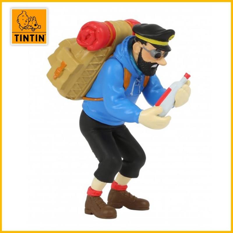 Figurine Haddock à la bouteille vide - Figurine Tintin PVC 42515