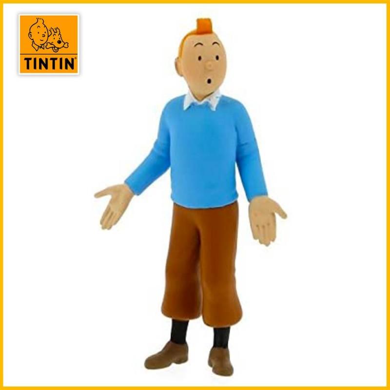Figurine Tintin pull bleu - Figurine PVC (grand modèle) 42502