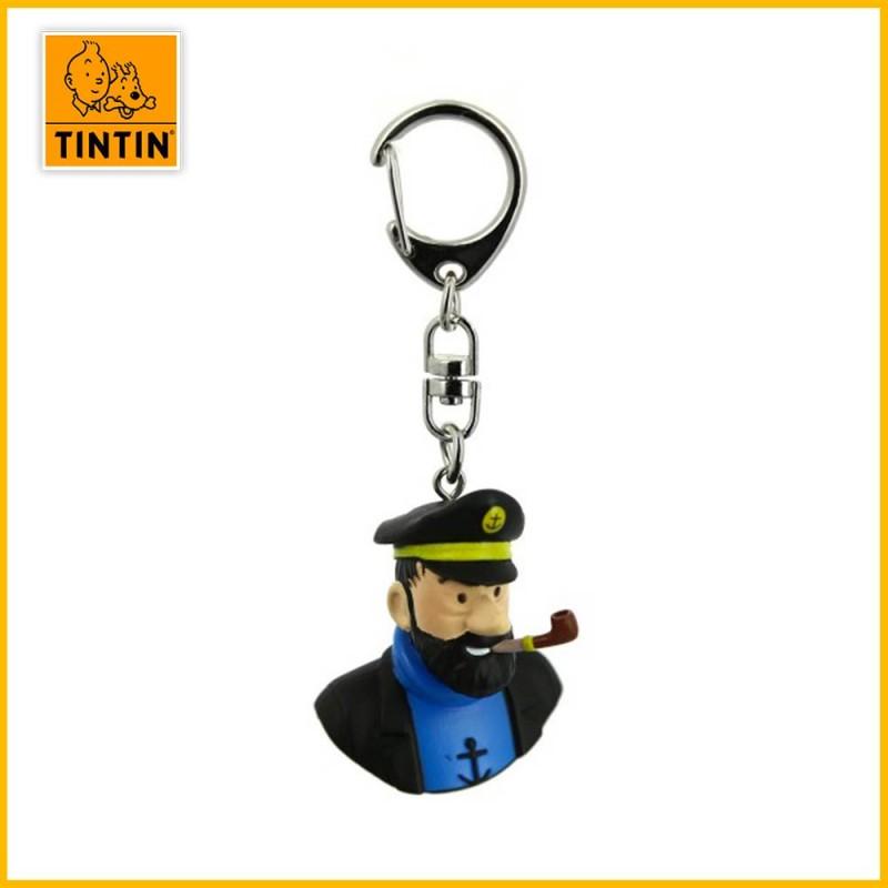 Porte-clés Tintin - Buste Haddock Moulinsart 42315