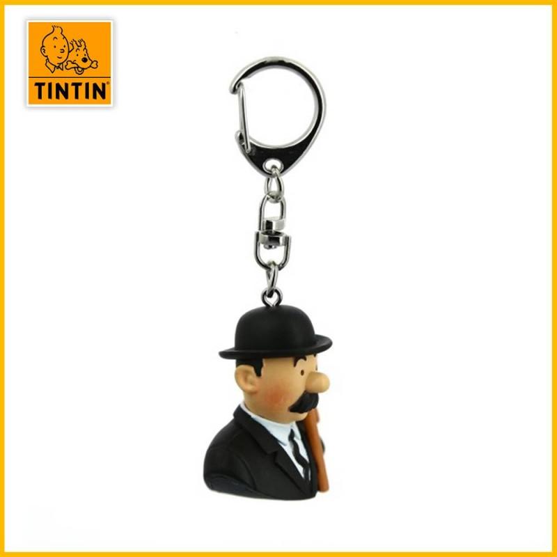 Porte-clés Tintin - Buste Dupont Moulinsart 42317