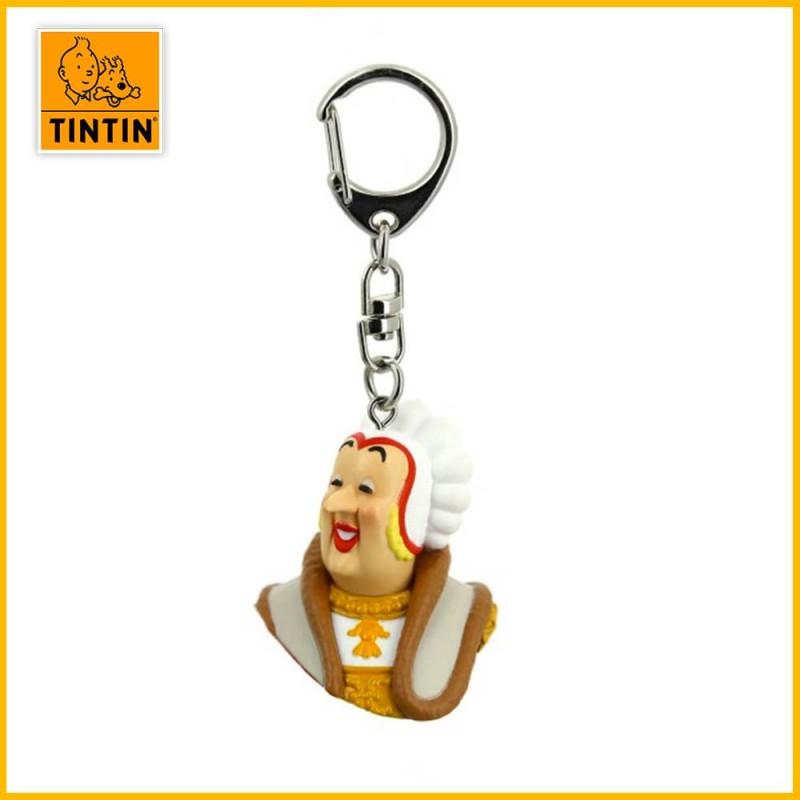 Porte-clés Tintin - Buste Castafiore Moulinsart 42319