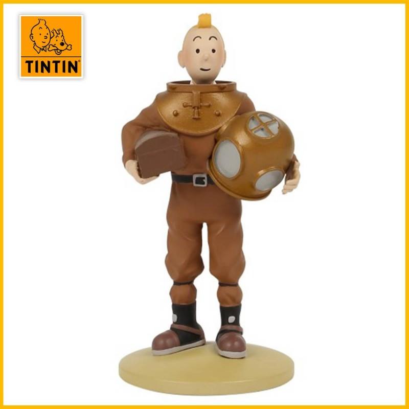 Statuette Tintin en scaphandre - Figurine Résine Tintin Moulinsart 42229