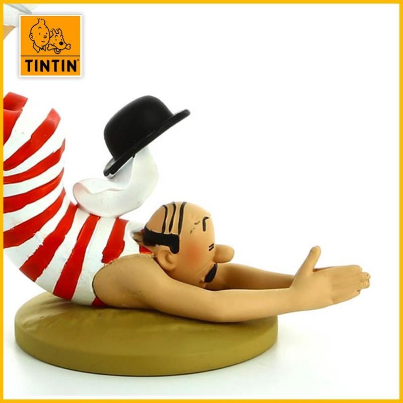 Figurine résine Dupont en maillot de bain Moulinsart 42196