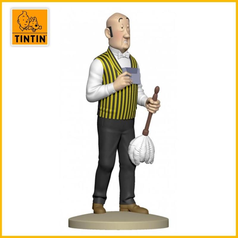 Statuette Nestor au plumeau - Figurine Résine Tintin Moulinsart 42227