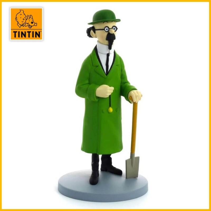 Statuette Tournesol avec bêche - Figurine Résine Tintin  Moulinsart 42224