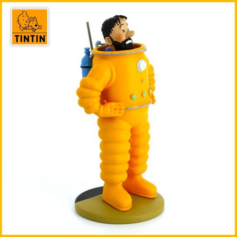 Statuette Haddock cosmonaute - Figurine Résine Tintin Moulinsart 42200