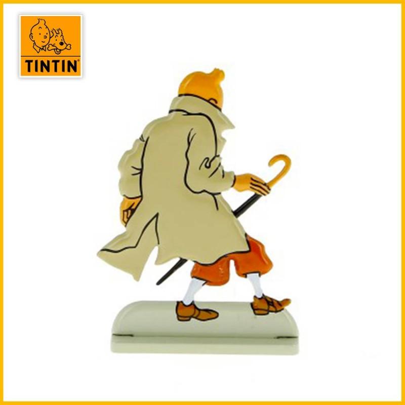 Verso de la figurine de Tintin dans l'Affaire Tournesol